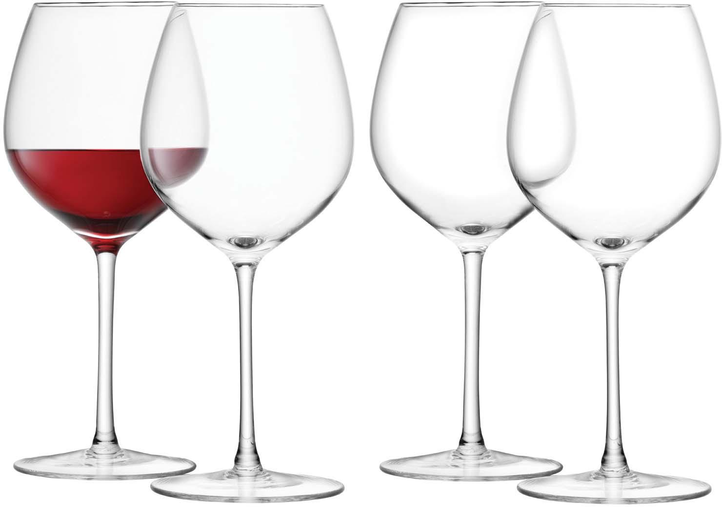 Набор бокалов для красного вина LSA Wine, 400 мл, 4 шт набор для вина wine time 4115806 5 предметов
