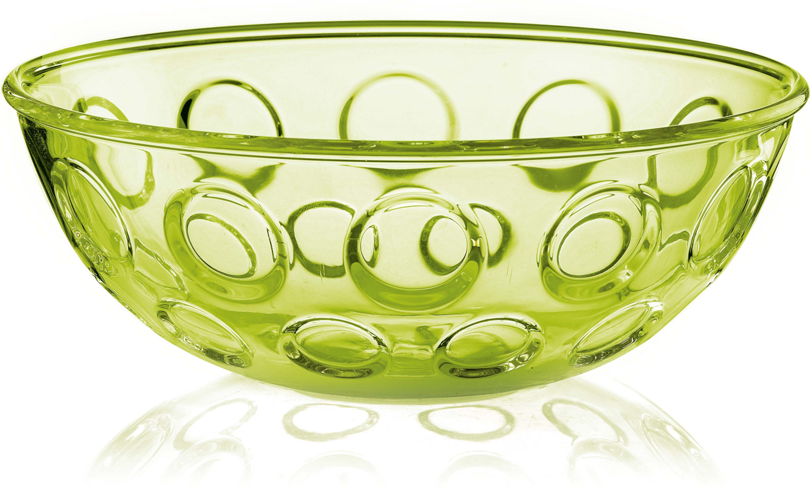 Салатник Guzzini Forme Casa, цвет: зеленый, диаметр 25 см