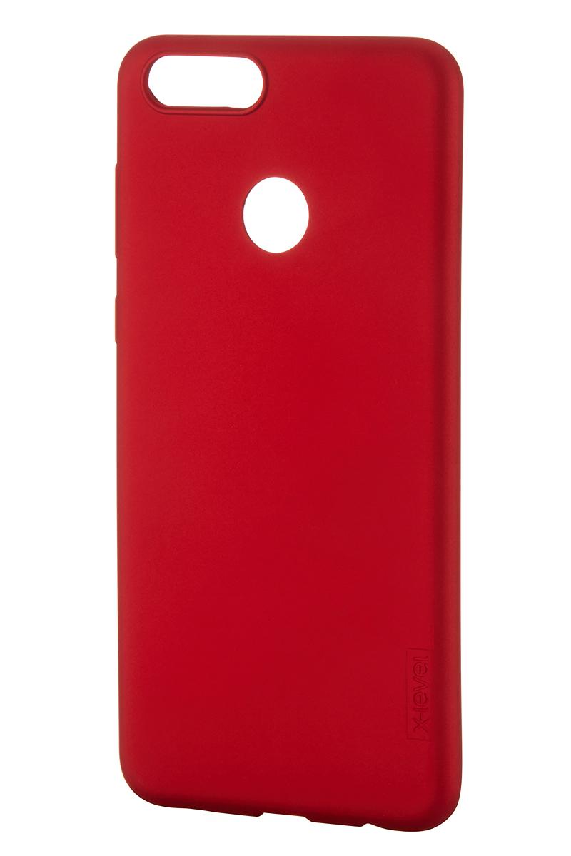Чехол для сотового телефона X-level Huawei Honor 7X, красный