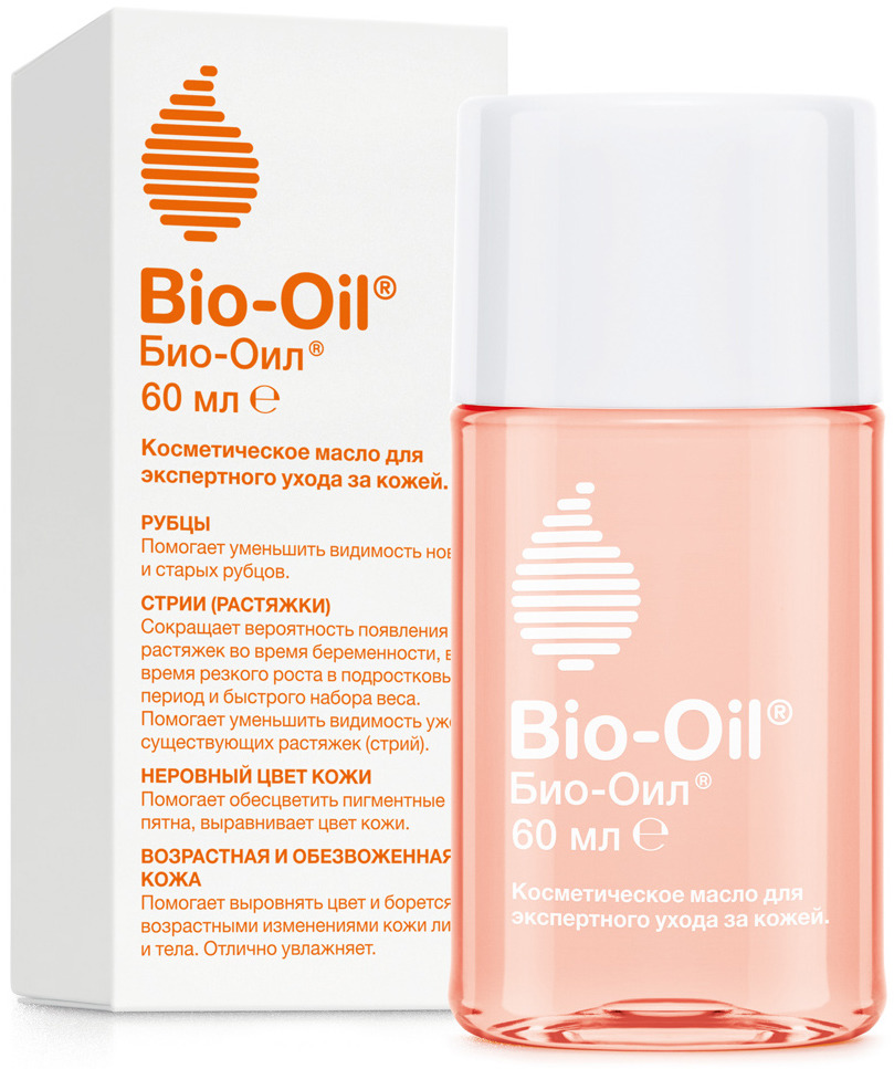 Масло косметическое Bio-Oil, от шрамов, растяжек, неровного тона, 60 мл bio oil масло косметическое от шрамов растяжек неровного тона 25мл