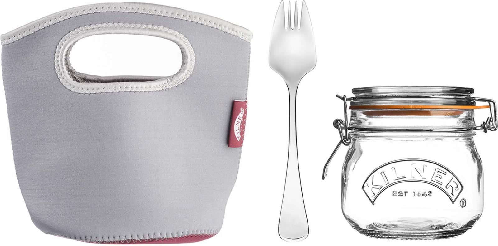 Набор для ланча с собой Kilner Prepare: банка 500 мл, ложка, сумка-переноска