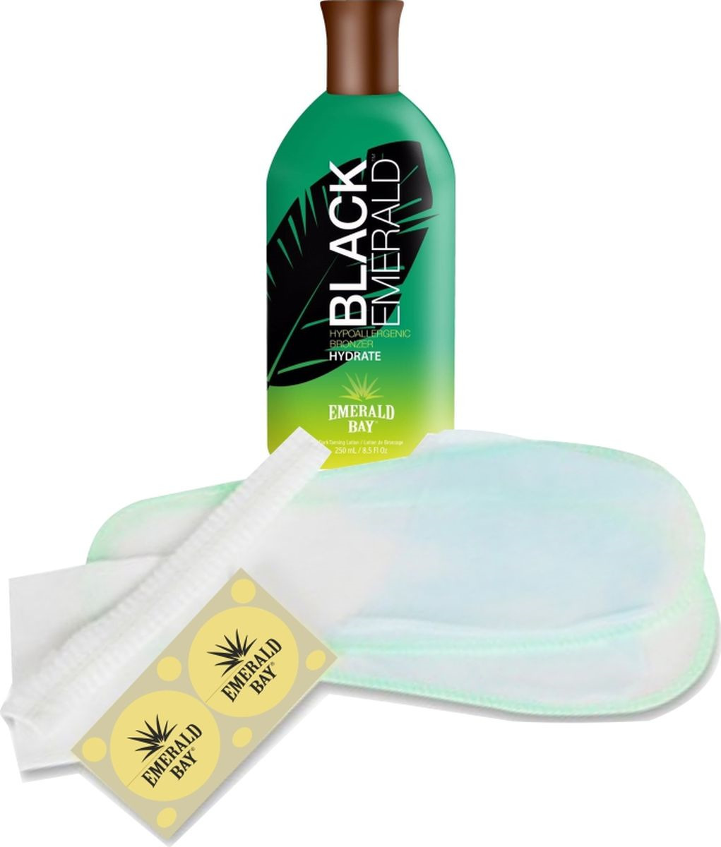 Комплект для солярия Emerald Bay Black Emerald, 250 мл крем для загара в солярии emerald bay choco latta love 15 мл х 5 шт