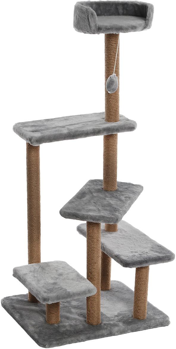 """Игровой комплекс для животных """"Меридиан"""", цвет: светло-серый, 65 х 50 х 135 см"""