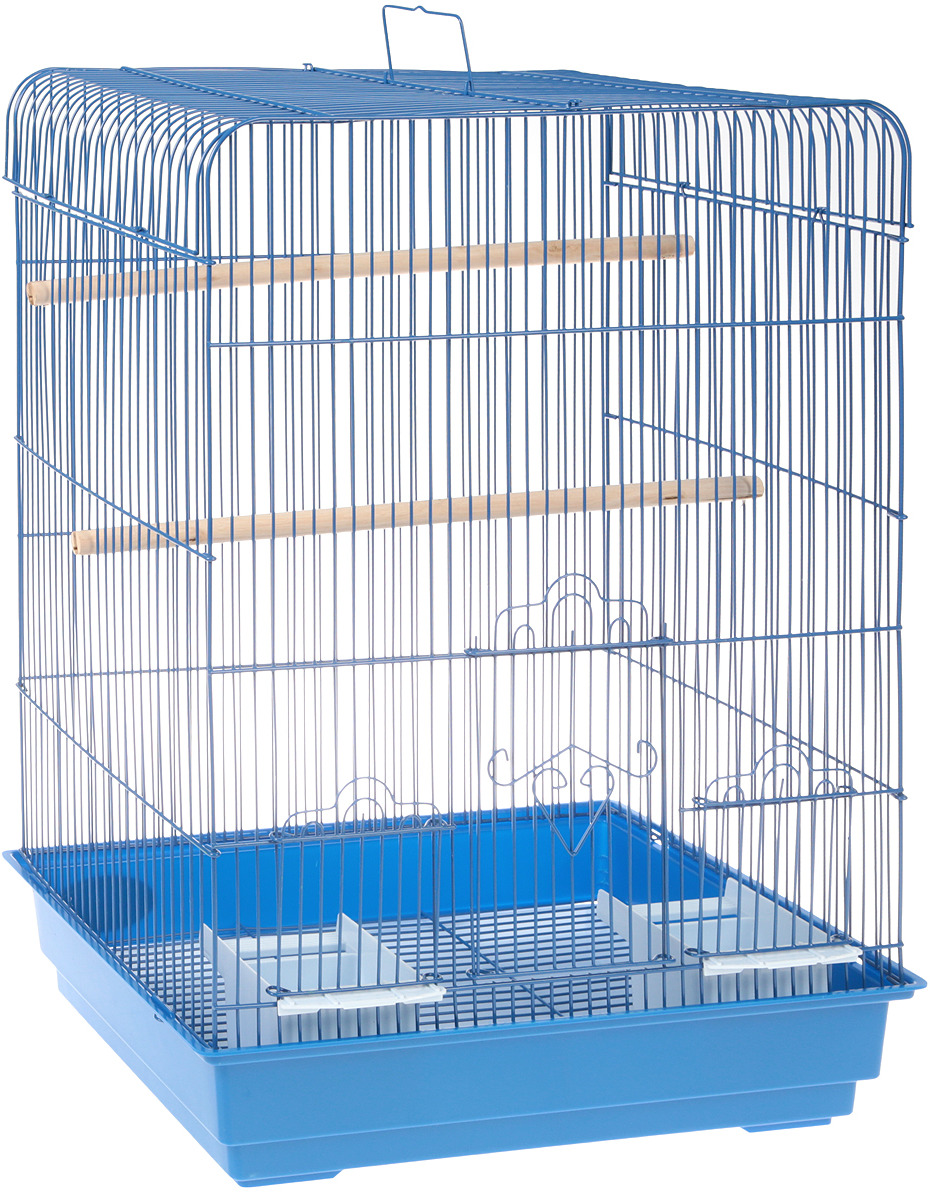 """клетка для птиц """"triol"""", цвет: синий, 43 х 30,5 х 58 см"""