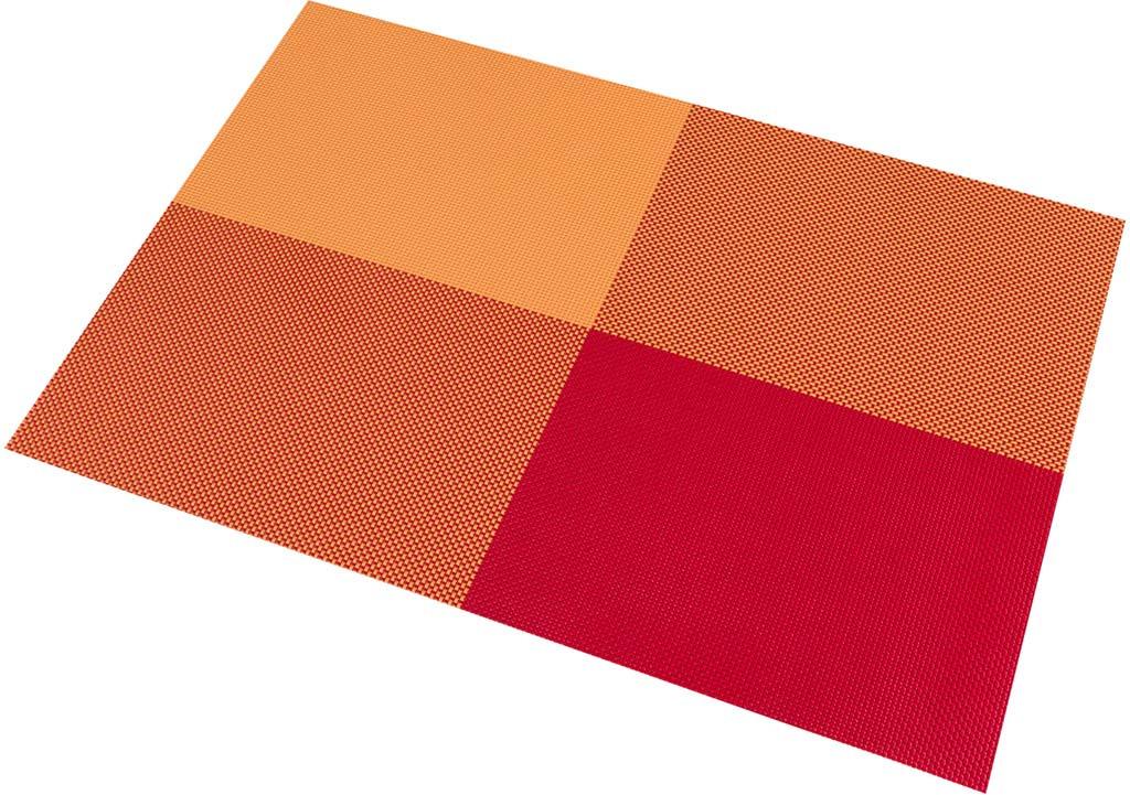"<b>Салфетка Elan Gallery</b> ""Клетка"", цвет: красный, 45 х 30 см, 4 шт ..."