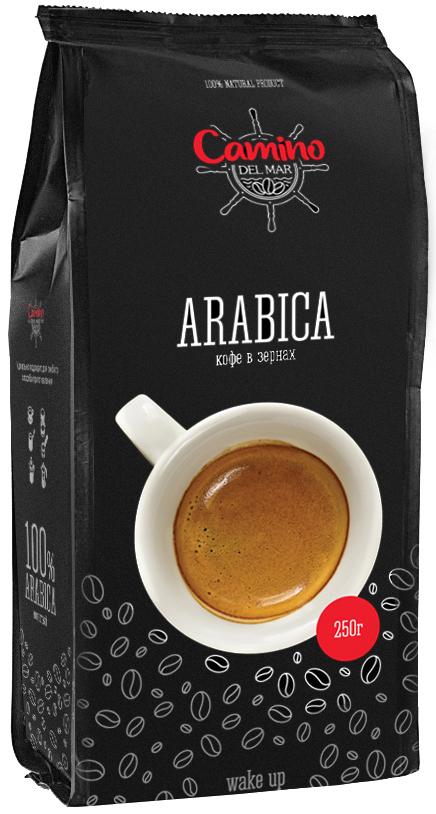 Кофе в зернах Camino Del Mar Arabica, 250 г цена