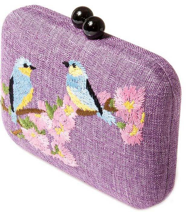 Клатч женский Aiyony Macie, цвет: сиреневый, розовый, голубой. BG809004