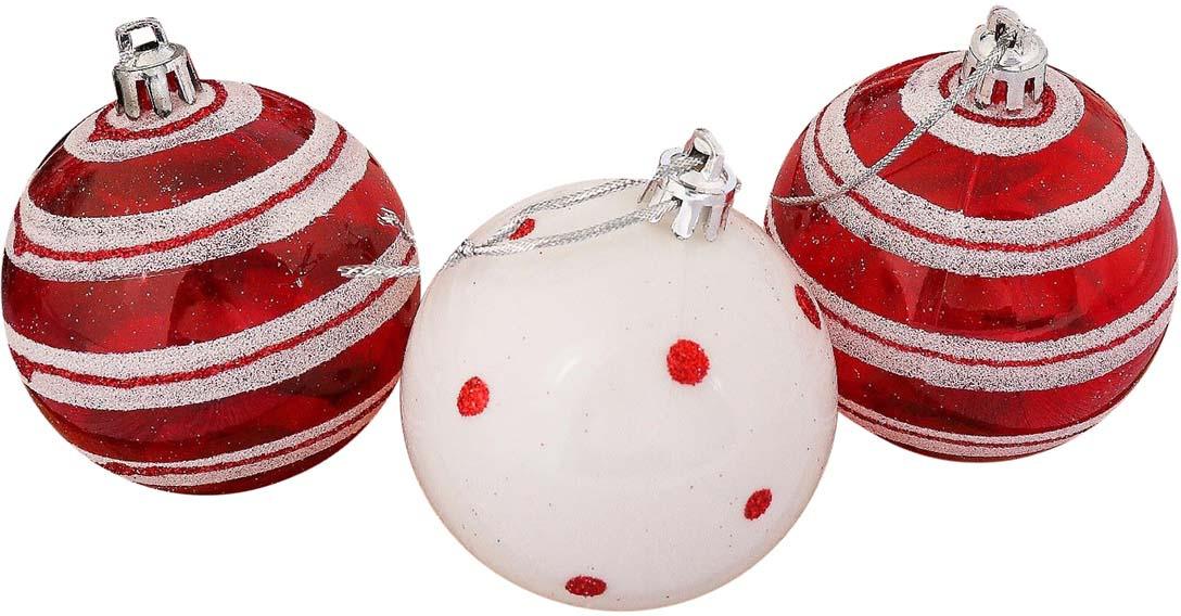 Набор елочных шаров Горох, цвет: разноцветный, диаметр 6 см, 9 шт набор елочных игрушек русские подарки веселый новый год 9 шт 71435