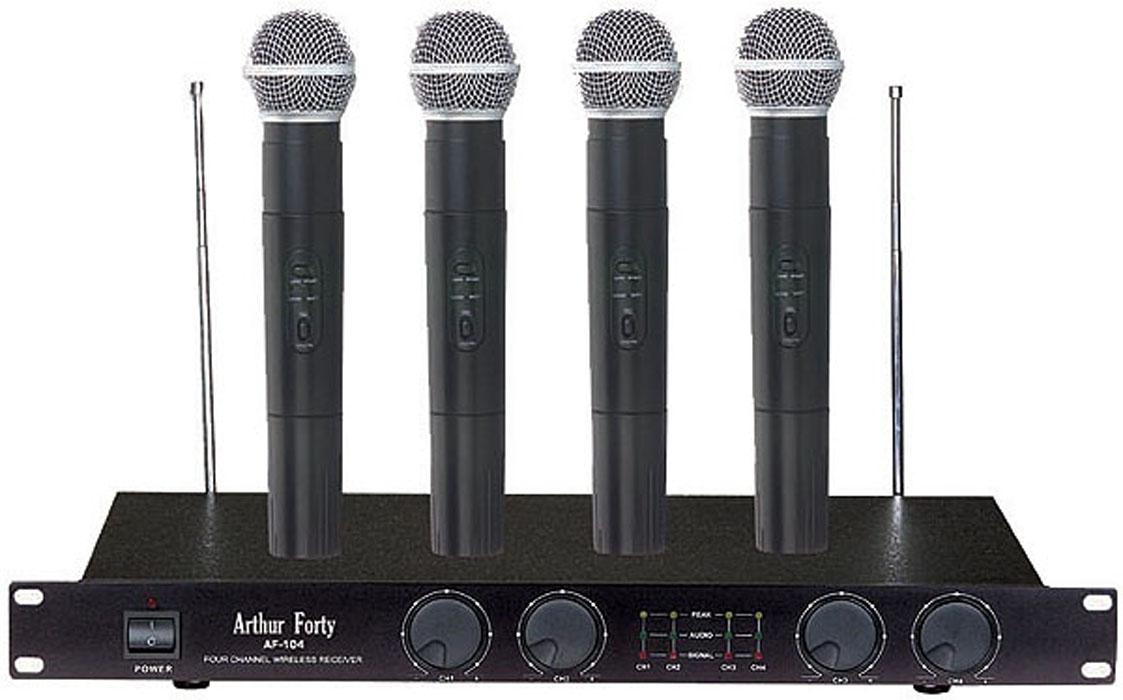лучшая цена Arthur Forty PSC AF-104 - Вокальная радиосистема 4 микрофона + база