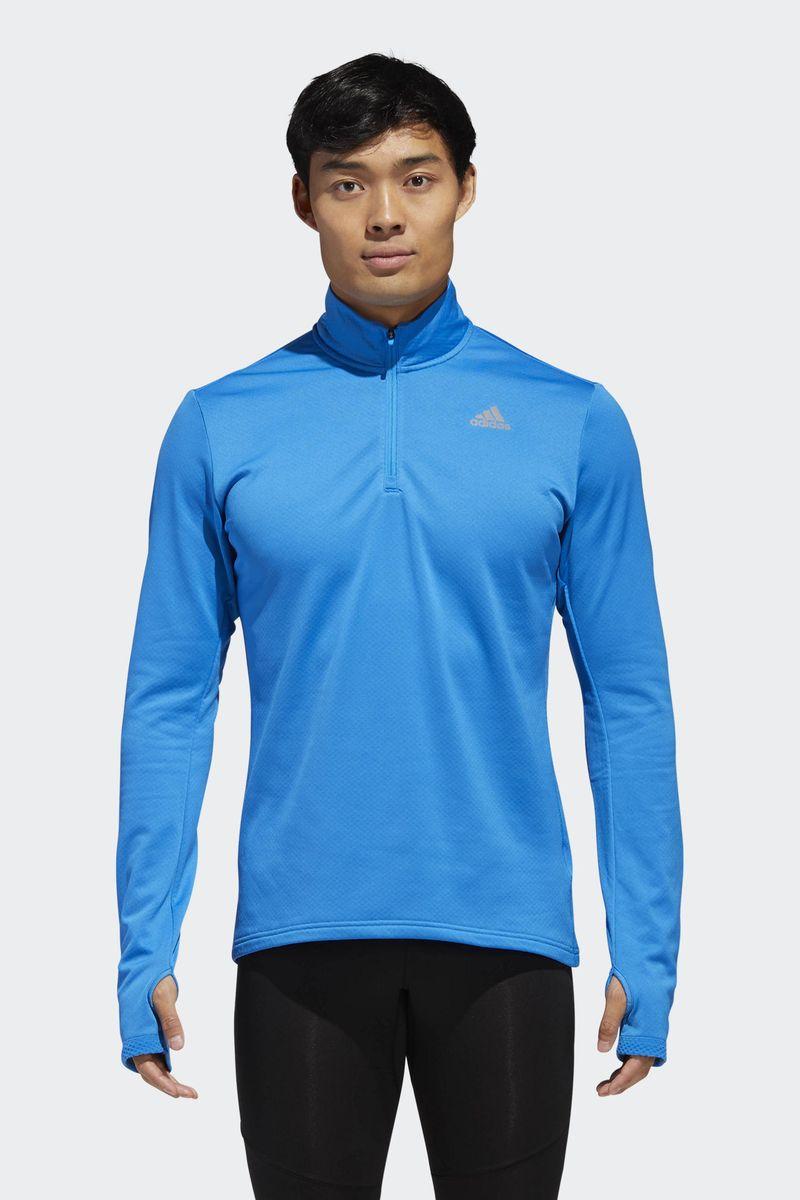 Лонгслив мужской Adidas Rs Cw 1/2 Zip M, цвет: голубой. D93104. Размер L (52/54)D93104