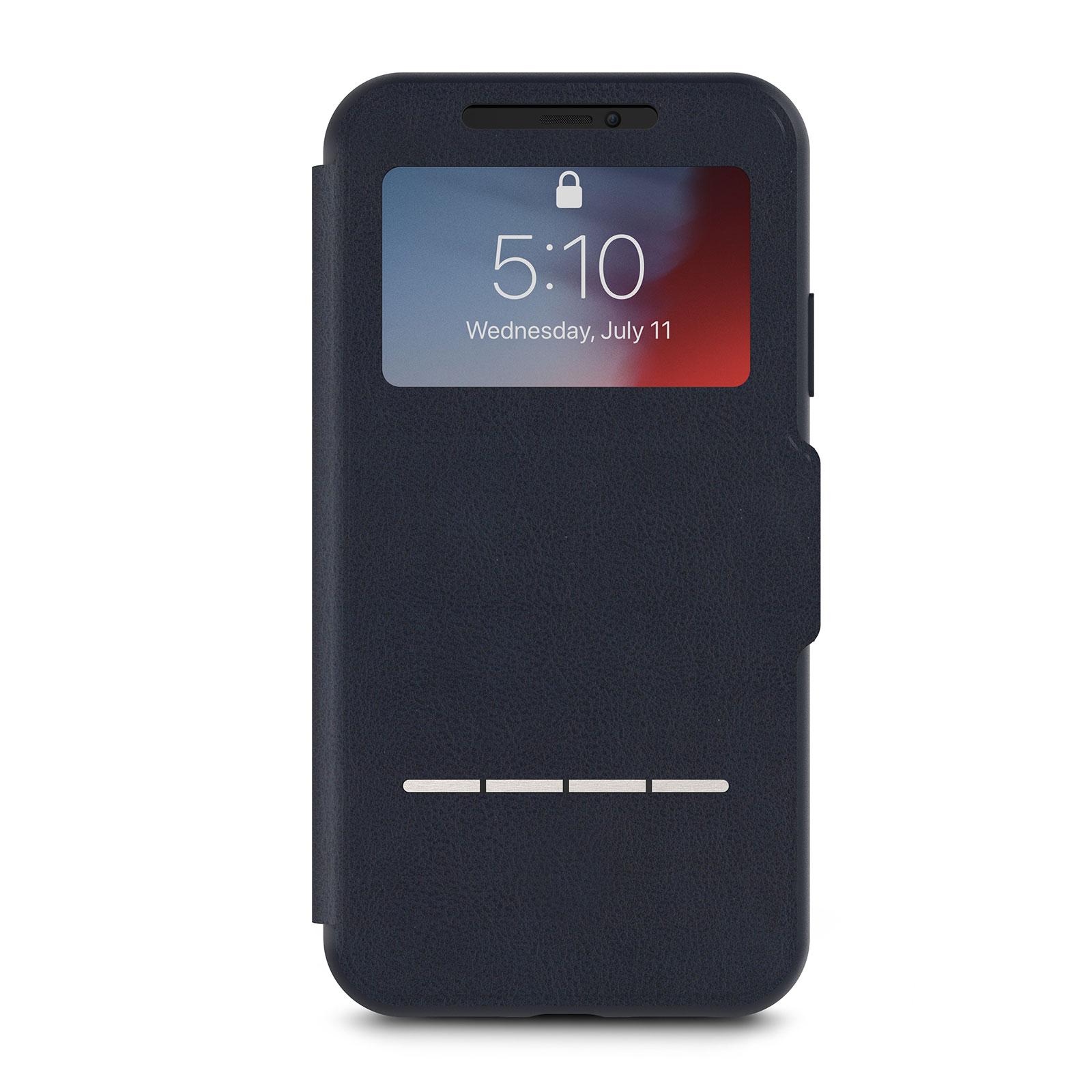 Кейс-книжка Moshi SenseCover для iPhone XR Midnight Blue аксессуар чехол moshi sensecover для iphone 6 plus graphite 99mo072304