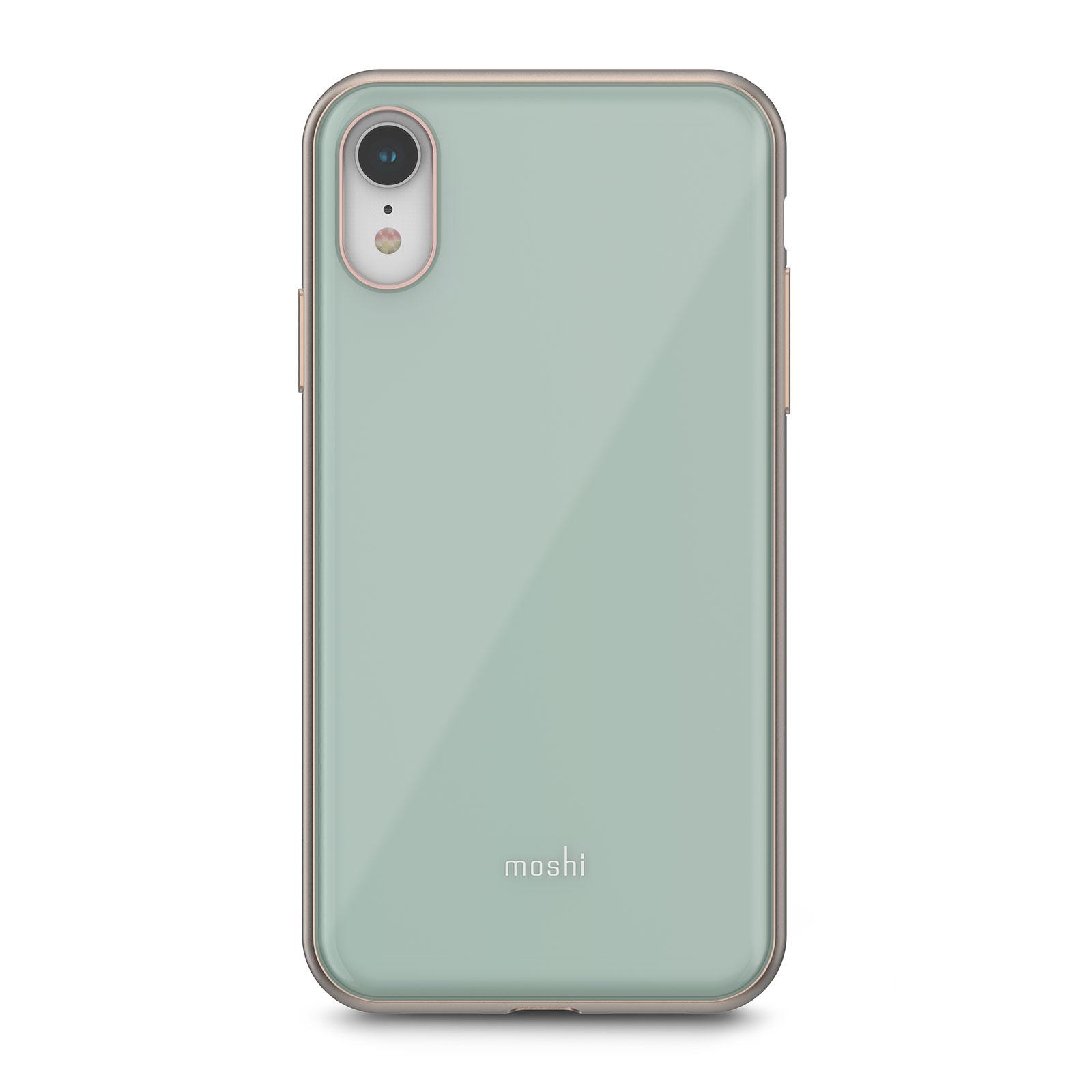 Клип-кейс Moshi iGlaze для iPhone XR Emerald Green клип кейс moshi iglaze для apple iphone xr красный