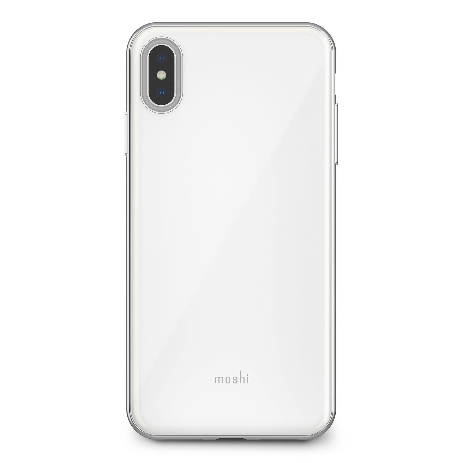 Клип-кейс Moshi iGlaze для iPhone XS Max Pearl White накладка moshi iglaze для iphone xs max чёрный 99mo113002