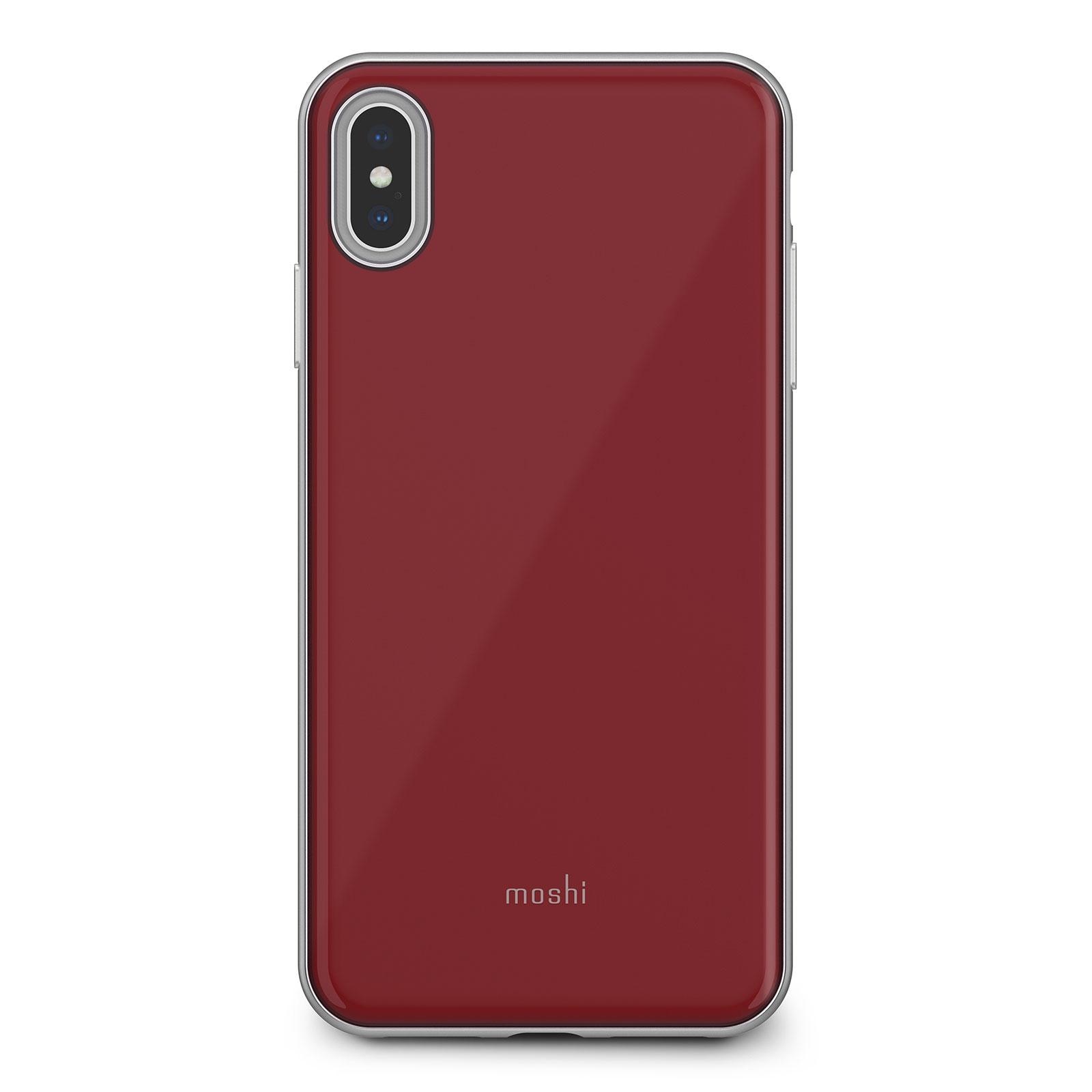 Клип-кейс Moshi iGlaze для iPhone XS Max Merlot Red накладка moshi iglaze для iphone xs max чёрный 99mo113002
