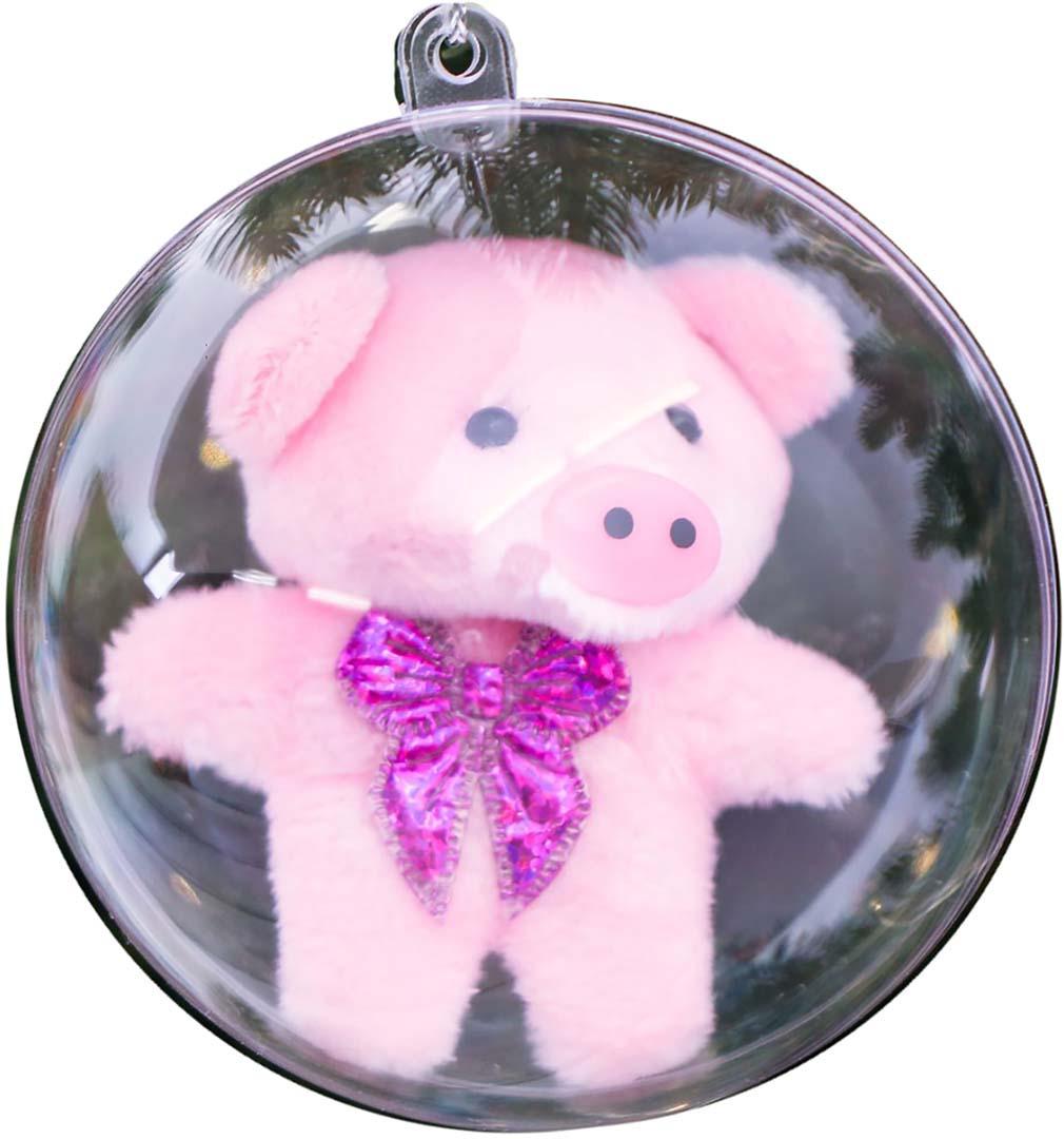 Свинка-талисман к деньгам Рублик, 8 см3512090Елочная игрушка - символ Нового года. Она несет в себе волшебство и красоту праздника. Создайте в своем доме атмосферу веселья и радости, украшая новогоднюю елку нарядными игрушками, которые будут из года в год накапливать теплоту воспоминаний.