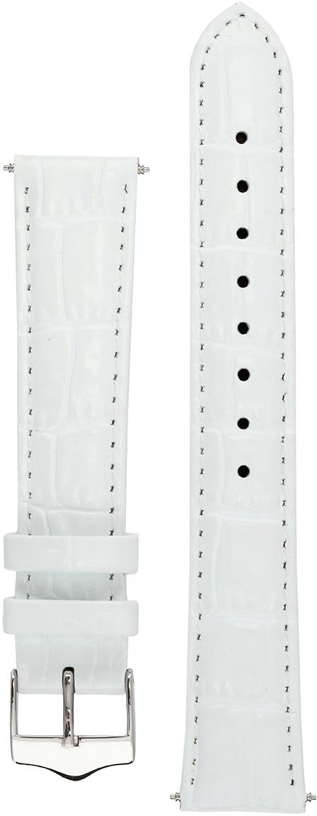 Ремешок для часов мужской Signature, цвет: белый, ширина 22 мм, длина 20 см. 95453_22 mm V cut95453_22 mm V cutРемешок Tropico изготовлен из натуральной телячьей кожи с тиснением под аллигатора. О высоком качестве кожи свидетельствует характерный запах без примесей химических отдушек и пластика. ¶¶Этот ремешок в стиле унисекс с тонкой набивка из натурального войлока подойдет для часов делового и классического стиля с тонким корпусом. ¶¶Размер ремешка (18 мм, 20 мм и т.д.) - это ширина ремешка в том месте, где он крепится к часам. Это расстояние между ушками часов указывается в миллиметрах. Так же мы предлагаем 3 версии длины. Длина частей ремешка без учета пряжки (в см.) - обычный - 12 и 8, short - 11 и 7, long - 12 и 10. Учитывайте не только длину частей ремешка, но и циферблат часов.¶¶В комплект входит набор шпилек. Все металлические детали не содержат никеля и безопасны для чувствительной кожи.¶¶Мы предоставляем пожизненную гарантию на все ремешки. ¶¶Signature Watch Company была основана в 1910 г. в Ливерпуле и широко известна высочайшим качеством своих изделий.