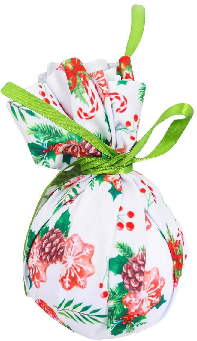 Новогоднее подвесное украшение Зимнее волшебство С Новым Счастьем!, диаметр 8 см винтажный декупаж новогоднее волшебство фантазер