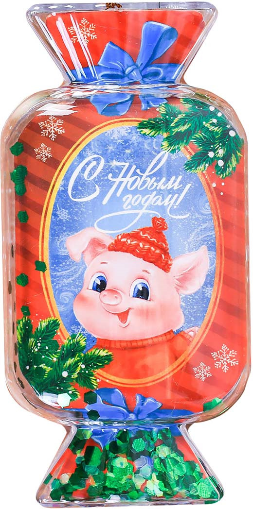 """Шар Зимнее волшебство """"С Новым годом!"""", диаметр 8 см"""