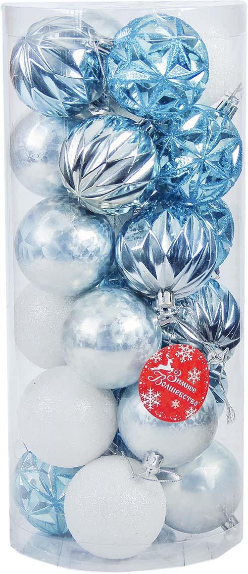 """Набор новогодних шаров """"Зимняя сказка"""", диаметр 6 см, 24 шт"""