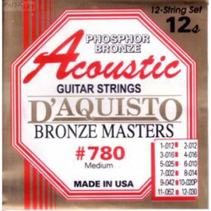 Струны для 12-ти струнной акустической гитары D'Aquisto 760/M 10-27+10-48