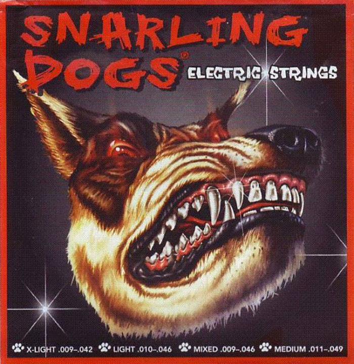 Фото - Струны для электрогитары D'Andrea SDN-11EB Snarling Dogs 11-49 степные струны