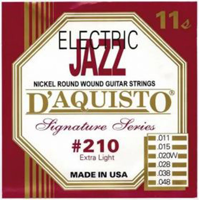 D'Aquisto 210 Jazz, 11-48 - Струны для электрогитары