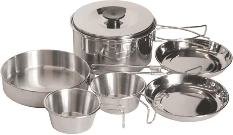 Набор походной посуды Tramp, цвет: серый металлик, 1700. TRC-001 цена