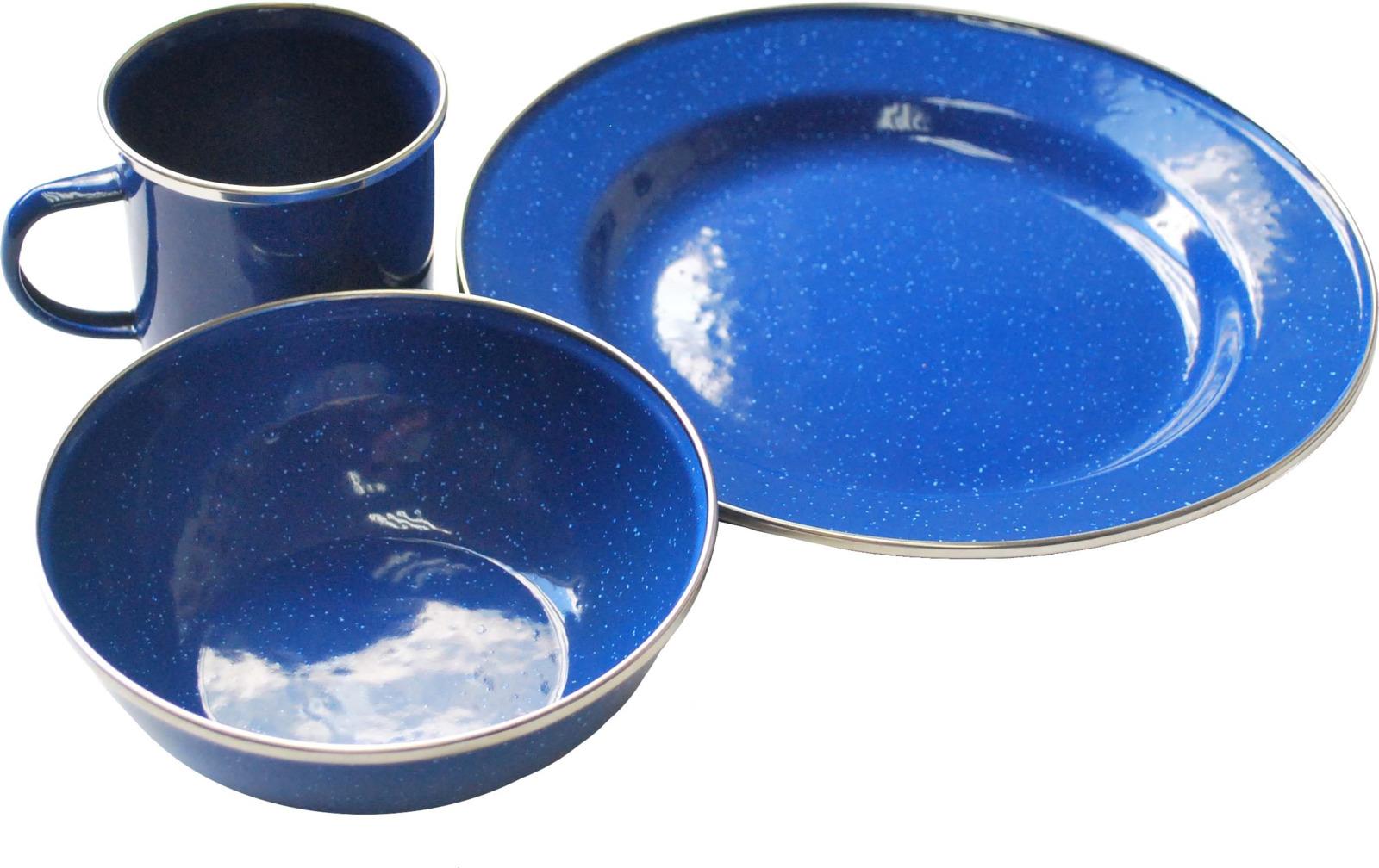 Набор походной посуды Tramp, цвет: синий. TRC-074