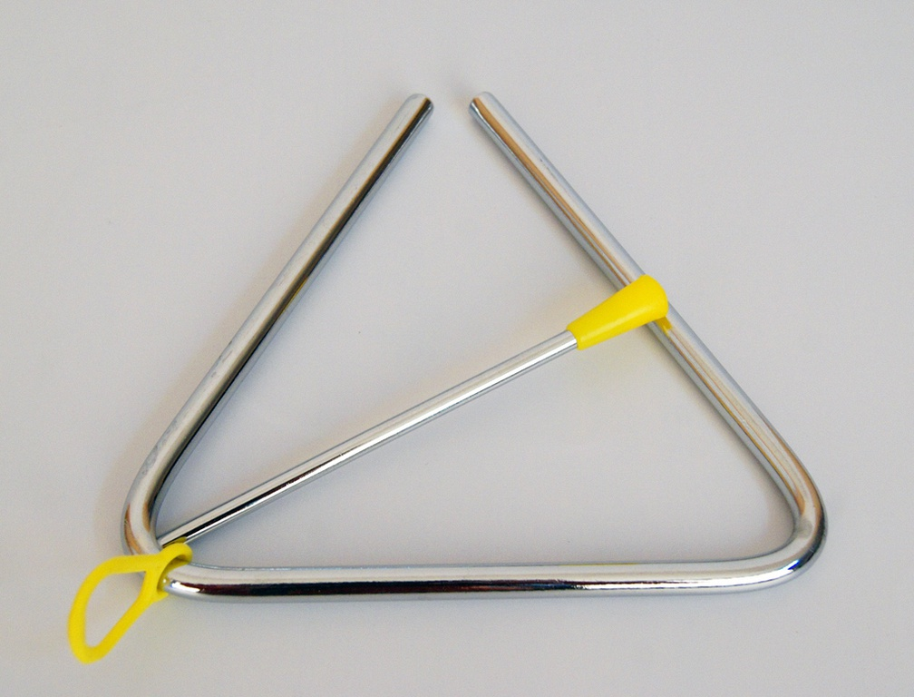 DEKKO T-5 - Треугольник хромированный 13 cмMF00228Треугольник. Длина стороны 13 см. Длина палочки 12 см. Хромированный. С держателем и ударной палочкой. Вес в упаковке 156 г.