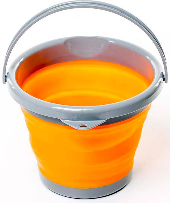 Ведро Tramp Силиконовая посуда, складное, цвет: оранжевый, 5 л. TRC-092 tramp trc 029