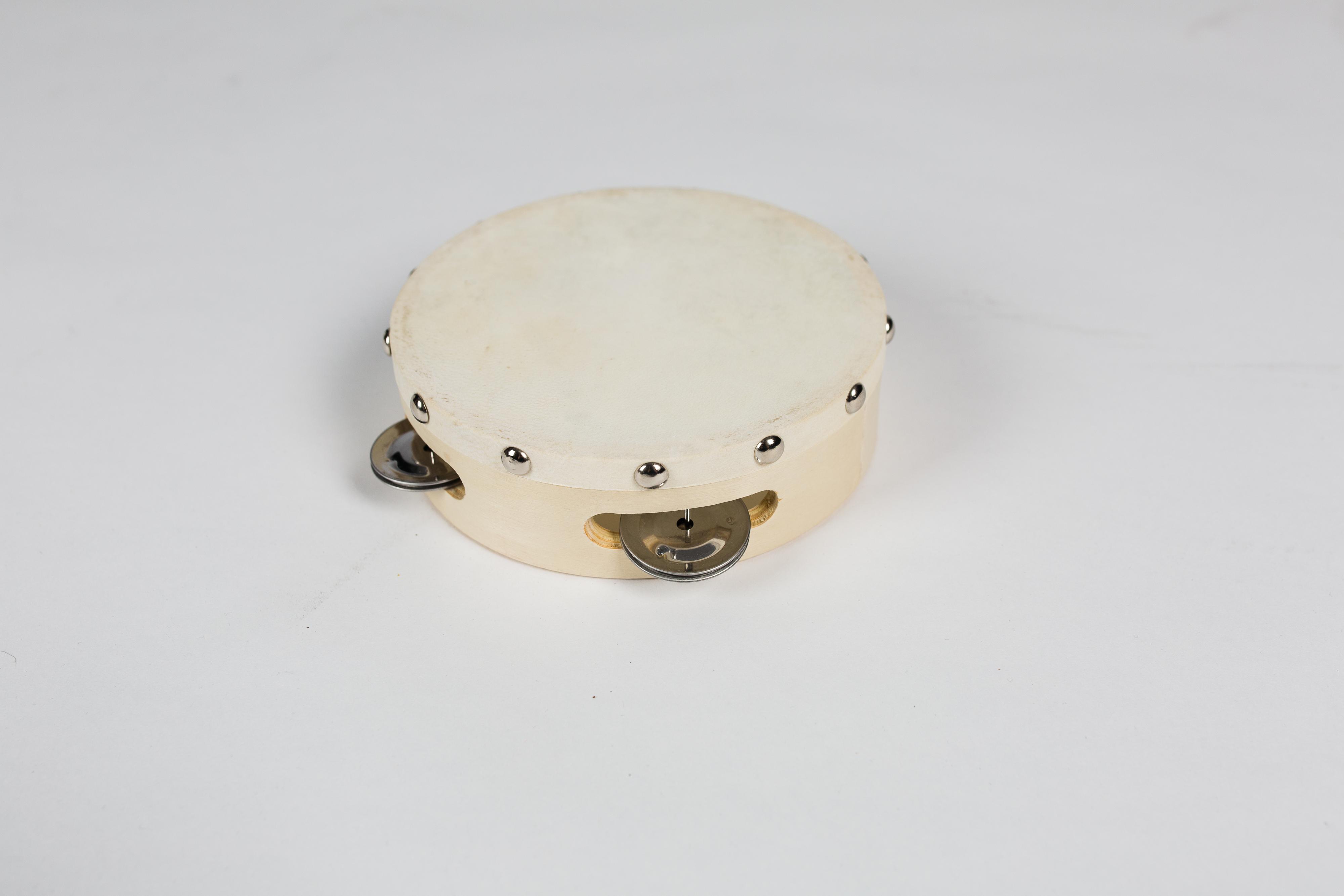 DEKKO TH4-3 - Бубен, 10смMF00615Бубен деревянный корпус, диаметр 10 см, кожаная мембрана, 4 пары тарелочек