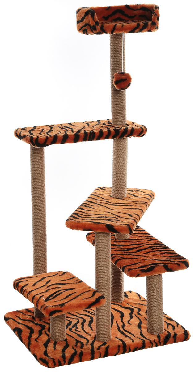 """Игровой комплекс для животных Меридиан """"Тигровый"""", 65 х 50 х 135 см"""