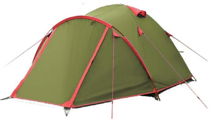 Палатка Tramp Lite Camp 4, цвет: зеленый. TLT-022.06