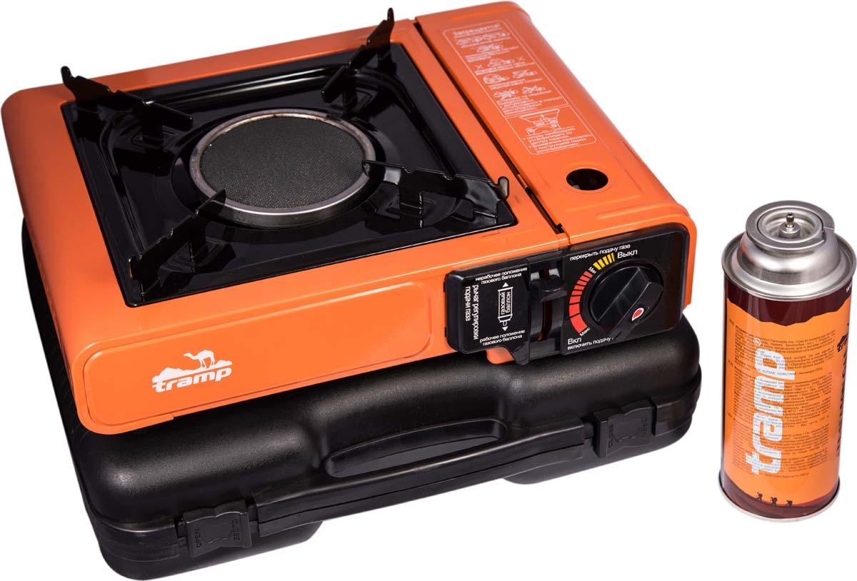 Плита газовая Tramp, инфракрасная, цвет: оранжевый, 27,5 х 22,5 х 9,5 см. TRG-040