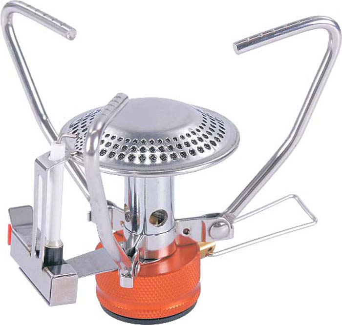 Горелка газовая Tramp, складная, цвет: серый металлик. TRG-045 горелка маякавто газовая малая м5 1 48 12501