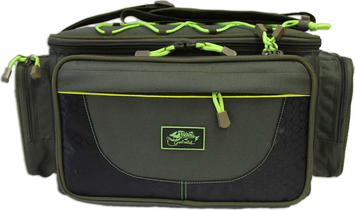 Сумка рыболовная Tramp, с пластиковыми ящиками, цвет: зеленый, 40 х 27 х 24 см. TRP-033 цена