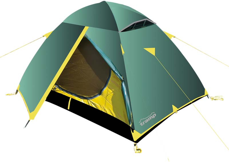 Палатка Tramp Scout 2 (V2), цвет: зеленый. TRT-55
