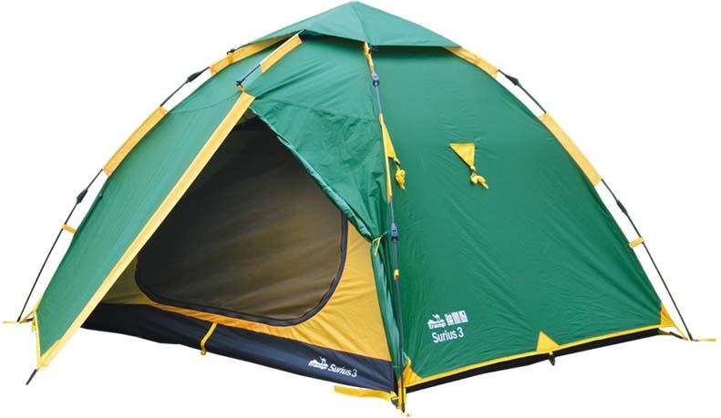 Палатка Tramp Sirius 3 (V2), цвет: зеленый. TRT-57