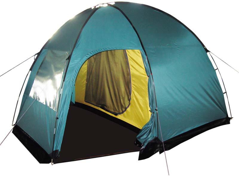 Палатка Tramp Bell 4 (V2), цвет: зеленый. TRT-81