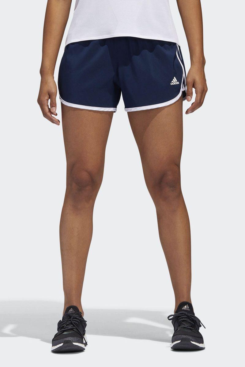 Шорты женские Adidas M10 Woven Short, цвет: синий. CE2013. Размер S (42/44)