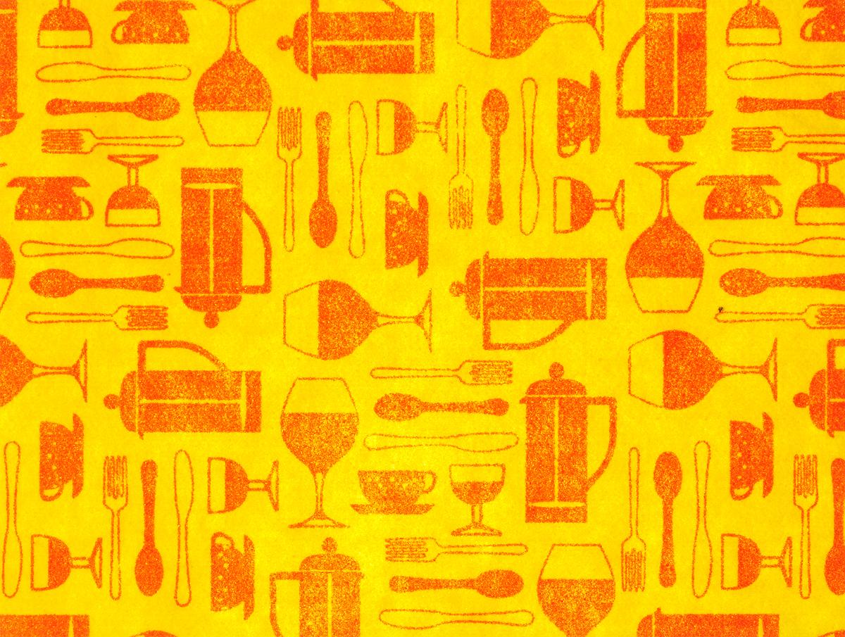 "Коврик для сушки посуды ""Домашний Сундук"", цвет: желтый, 30 х 40 см"