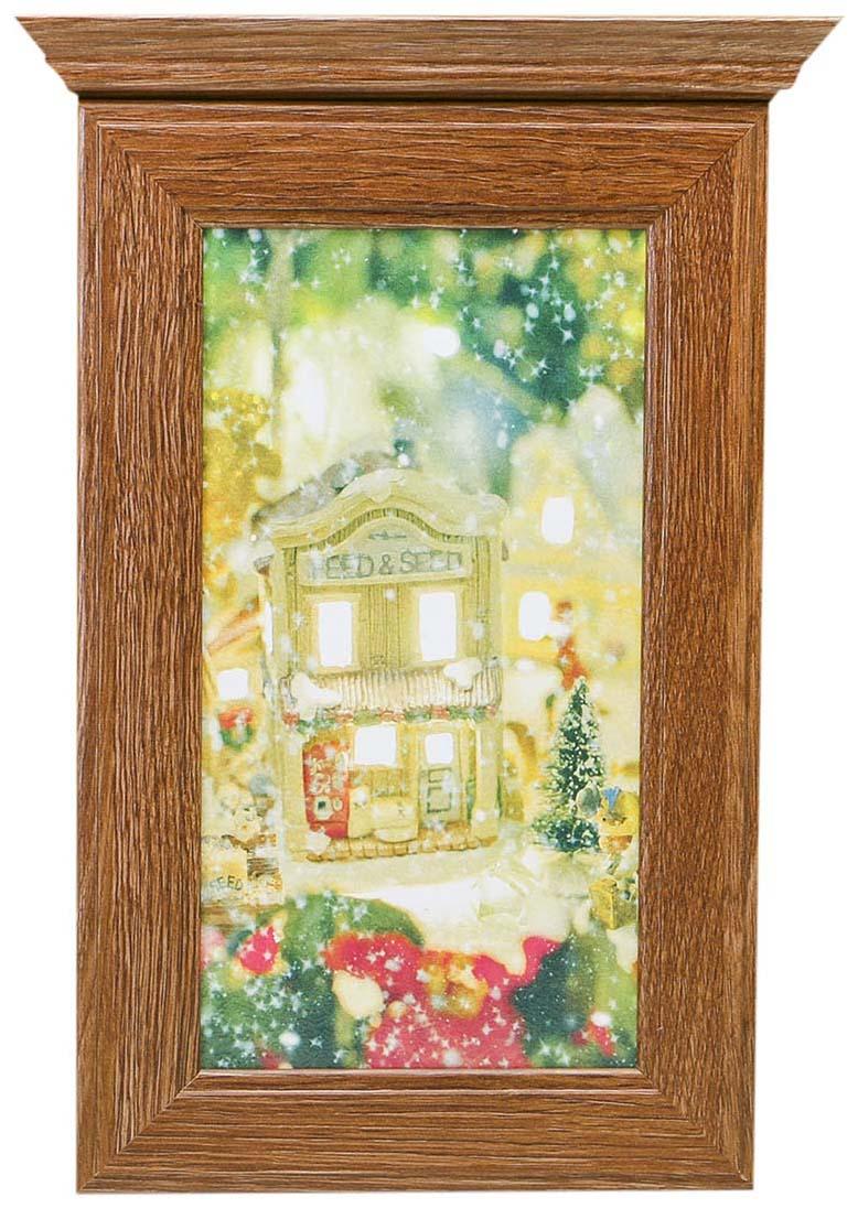 Ключница настенная Новогодний домик, 28,5 х 20 х 6 см. 3798281 ключница настенная волшебная страна 005400 34 х 24 х 6 см