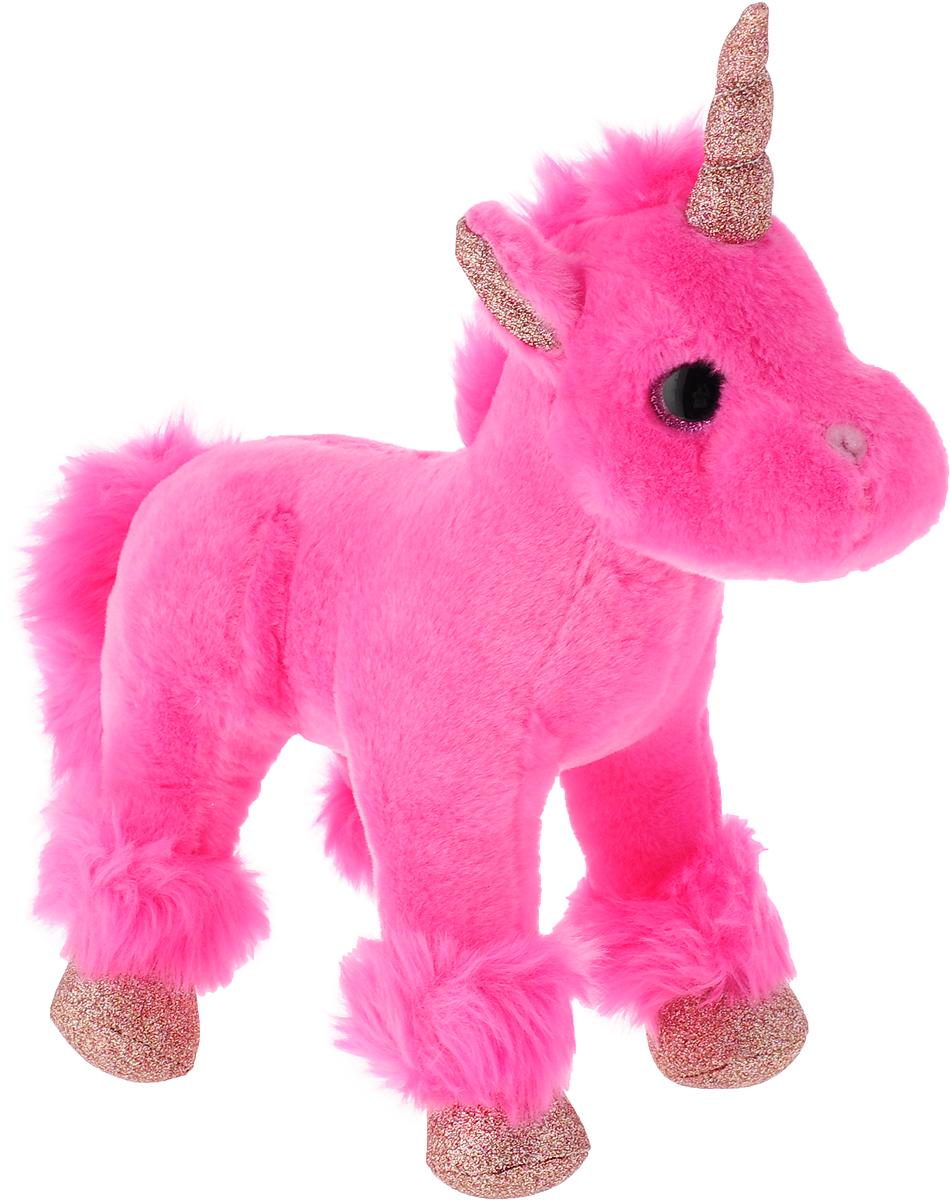 """Игрушка мягкая Teddy """"Единорог"""", цвет: розовый, 23 см"""