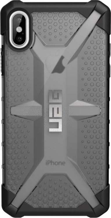 Защитный чехол UAG Plasma для Apple iPhone XS Max, цвет: пепельный защитный чехол uag monarch для iphone xs max цвет красный