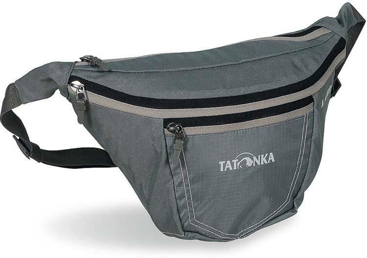 Сумка на пояс Tatonka Ilium L, цвет: серый, 16 х 37 х 10 см сумка для фотокамеры tatonka protection pouch l