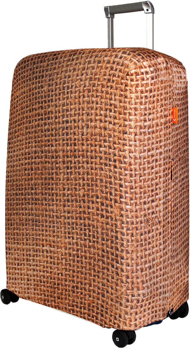 Чехол для чемодана Routemark Какой-то мешок на чемодане, цвет: светло-коричневый, размер L/XL чехол для чемодана routemark ромбик в красном цвет красный