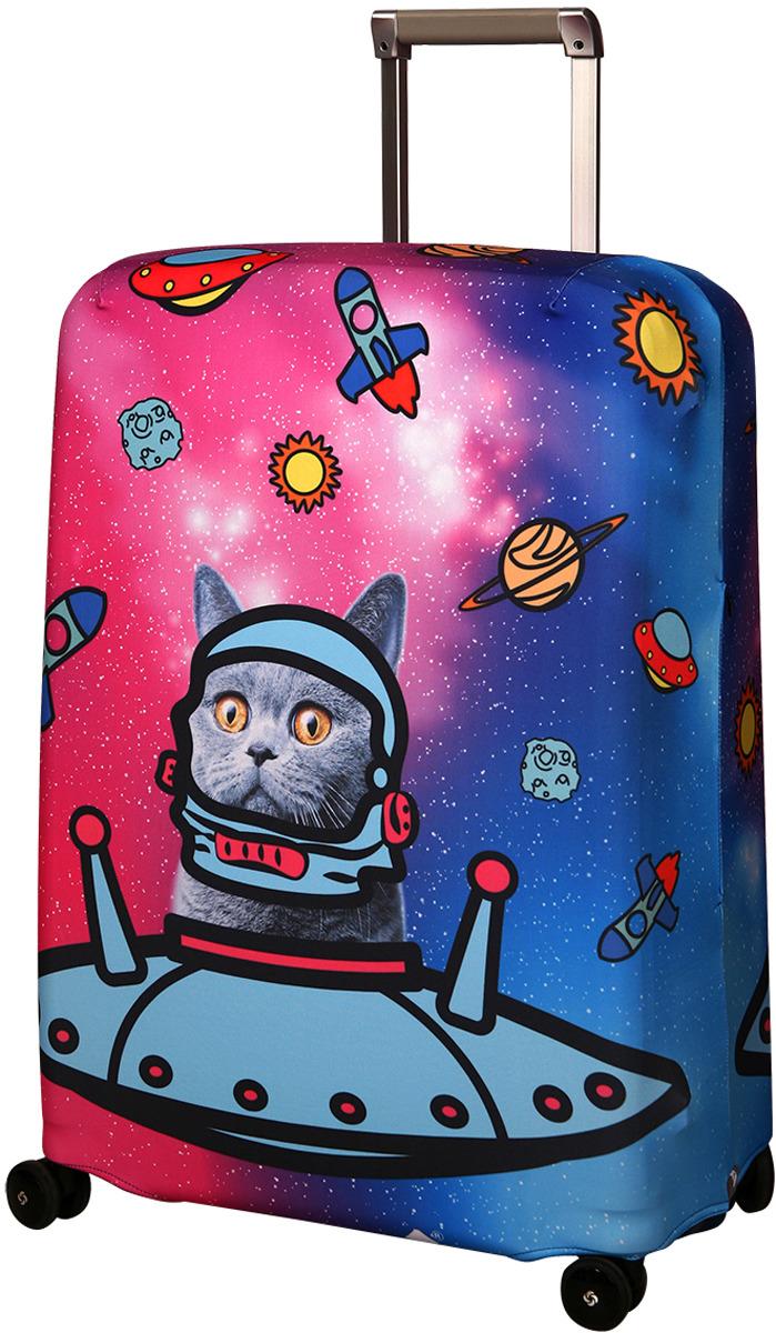 Чехол для чемодана Routemark Ракета, цвет: голубой, размер M/L чехол для чемодана routemark ромбик в красном цвет красный
