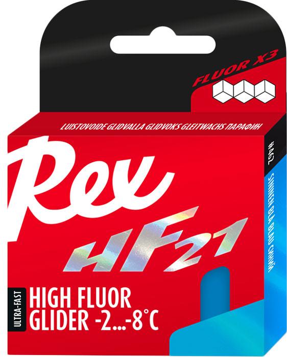 Парафин высокофторовый Rex HF21 Blue, 86 г высокофторовый парафин gallium hybrid hf blue sw2151 3 12°с 50 г
