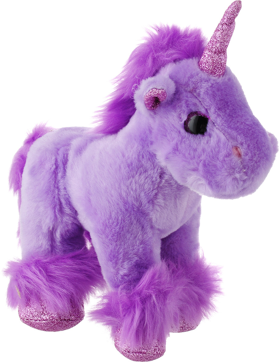 Игрушка мягкая Teddy Единорог, цвет: фиолетовый, 15 см v plunge cut out teddy