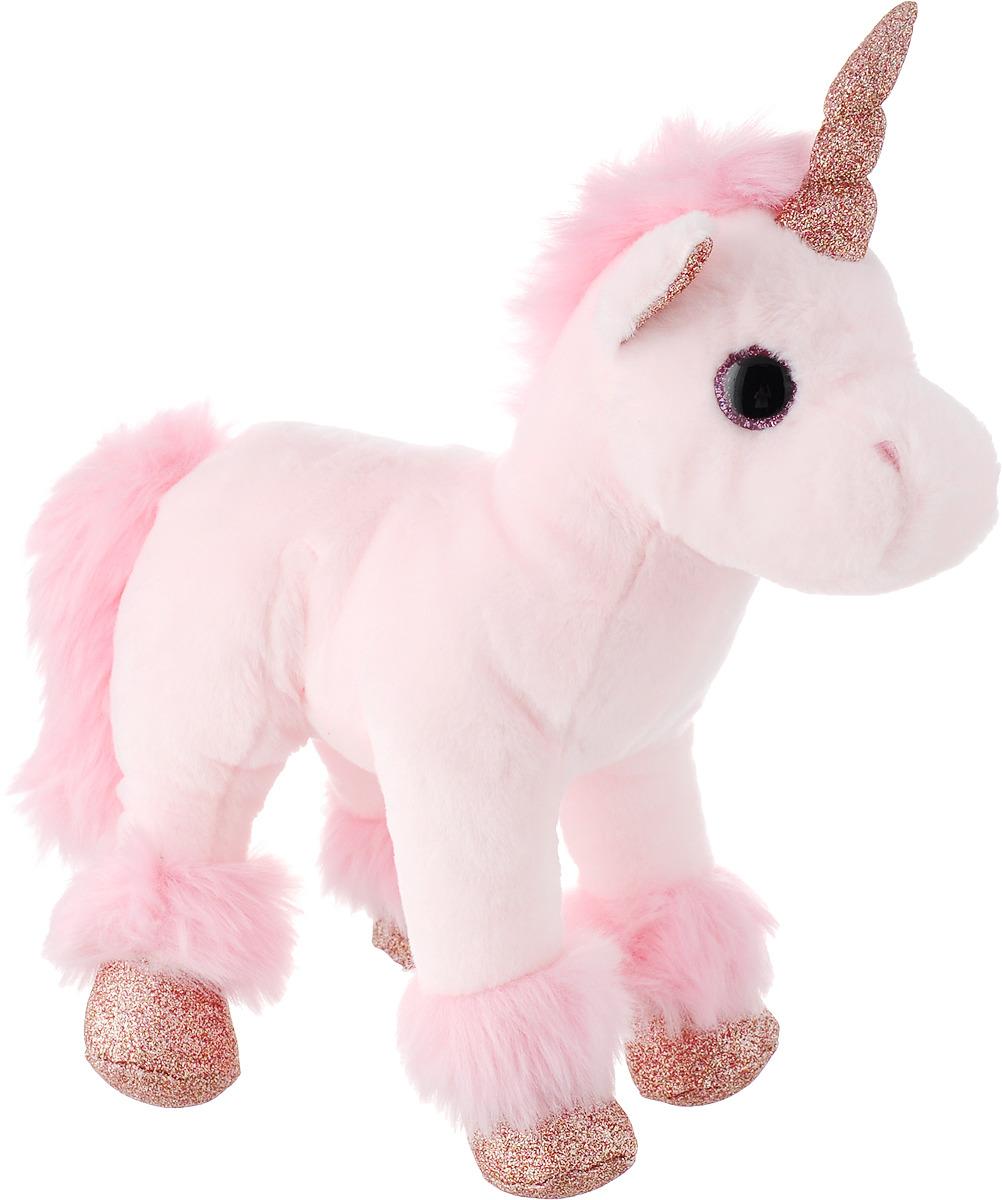 Игрушка мягкая Teddy Единорог, цвет: светло-розовый, 23 см кукла teddy рыжая 36 см m6022